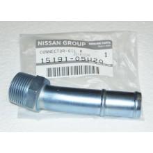 Соединитель слива масла с турбин к блоку Nissan RB26 15191-05U20