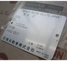 Подкапотная идентификационная табличка шильда Nissan