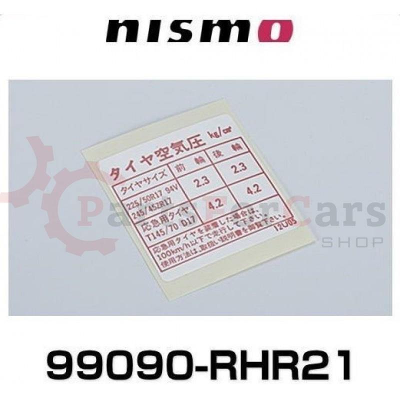 Стикер кузовной Nissan Nismo 99090-RHR21 99090-12U05