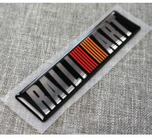 Эмблема багажника задняя Mitsubishi RalliArt 7415A033